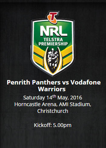 2016 NRL Penrith Panthers v Vodafone Warriors